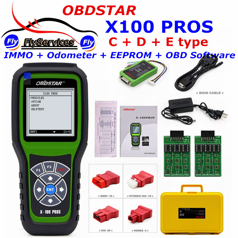 X100 PROS Function IMMOBILISER+Odometer+EEprom Adapter OBDSTAR C+D+E Model X-100 Auto Key Programmer X 100 Pro Update Online