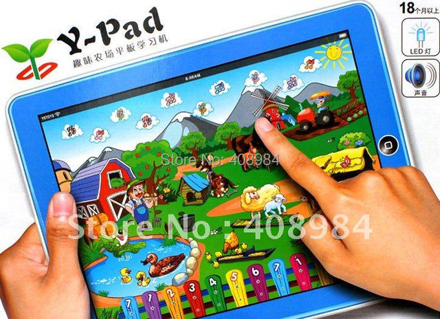 Y-Pad Funny Farm Computer Learning Machine English Computer for Children /kid educational toys