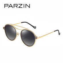 PARZIN Round Sunglasses Women Brand Designer Vintage TR 90 Polarized Men Sun Glasses For Driver Glasses With Case 9899(China)