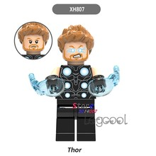 1PCS model building blocks action superheroes Thor house hobby learning Dolls diy toys for children gifts(China)