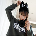 2016 Big Eyes Caps for Children OX Horn Winter Hats for women Warm Knitted Caps Girls Kids Beanies Hip Hop Solid Cat