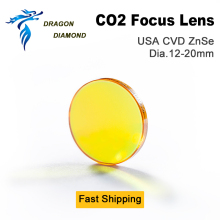High Quality USA ZnSe Co2 Laser Lens 20mm Dia 50.8 Focus Length For Laser Cutting Machine customized models sjl 20 co2 laser focus lens materials usa znse diameter 20mm edge thickness 2mm focal length 96mm