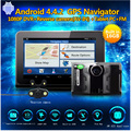 Car Detector GPS 7 inch Android GPS Radar detector DVR Dash Camera Video Recorder 16GB Rear view Truck GPS FM AVIN WIFI