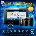 Detector carro GPS 7 polegada Android GPS detector de Radar DVR Traço Gravador de Vídeo da câmera 16 GB câmera de visão Traseira Do Caminhão GPS FM AVIN WI-FI