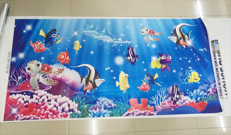HTB1Y3jJKpXXXXcUXXXXq6xXFXXXg - Custom Photo Mural Non-woven Embossed Wallpaper Underwater World Fish Coral Children Room Living Room Wall Decoration Wallpaper