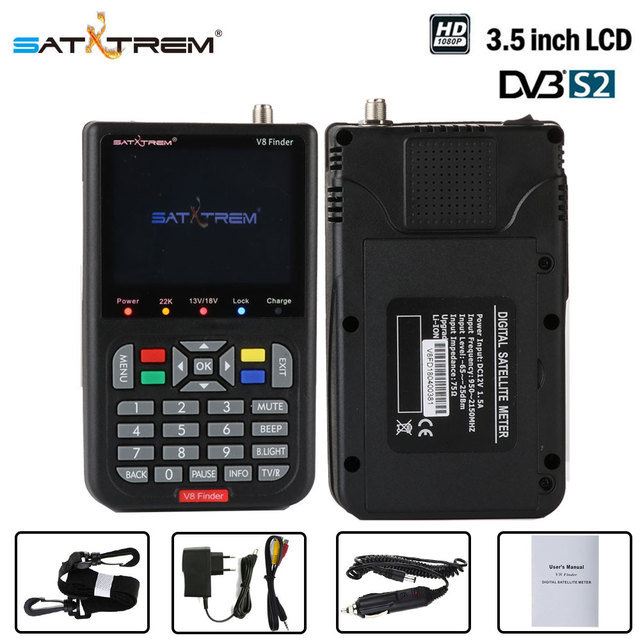 New Sarxtrem V8 Finder DVB-S2 High Definition Satellite Finder MPEG-4 DVB S2 Satellite Meter Satfinder Full 1080P
