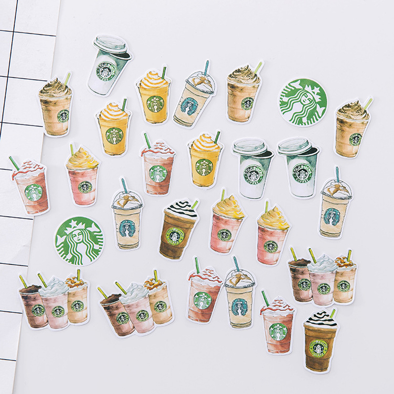 1Pcs/Sell Starbucks Stationery Stickers Pack Post It Kawaii Planner Scrapbooking Memo Stickers Escolar School Supplies New TZ52 120pcs 3sets cute diary stationery stickers pack post it chubby rabbit series scrapbooking sticky escolar school supplies