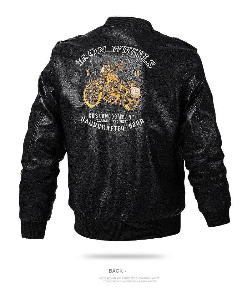 HTB1Y3jYavBj uVjSZFpq6A0SXXa9 Men's Leather Jackets and Coats Male Motorcycle Leather Jacket Casual Slim Brand Clothing V-Neck Collar Coats