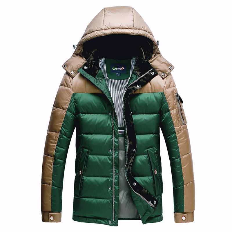 DZYS Men's Thick Duck   Down   Jacket 90%   Down     Coat   with Hat Detachable for Men Male 5622