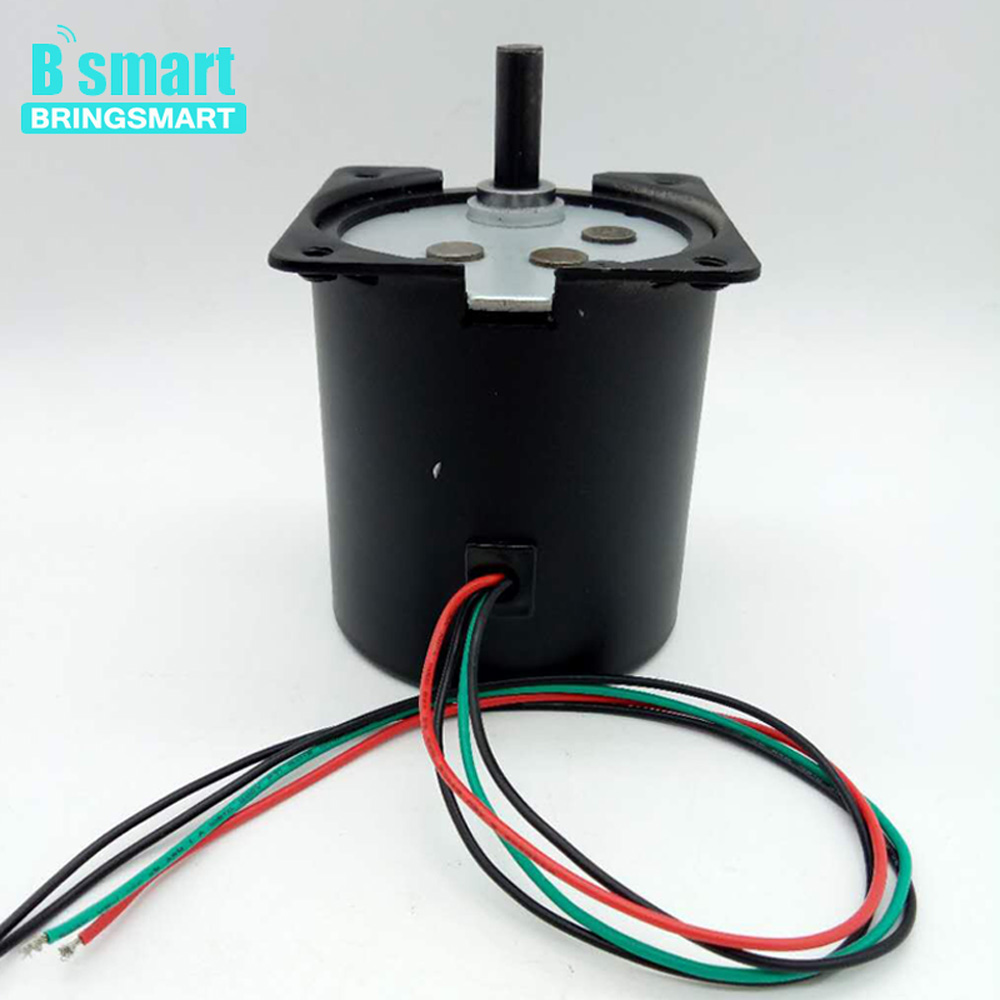 Bringsmart AC 220V 2.5-110rpm 70KTYZ  Motor Low Noise Reverse Speed Reducer Synchronous Motor For Barbecue, TableBringsmart AC 220V 2.5-110rpm 70KTYZ  Motor Low Noise Reverse Speed Reducer Synchronous Motor For Barbecue, Table