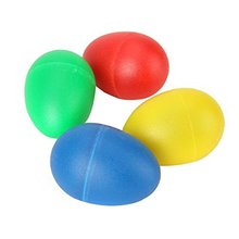 5 PCS of (HLBY New Arrival Plastic Percussion Musical Egg Maracas Egg Shakers Kids Toys 4 Colors)