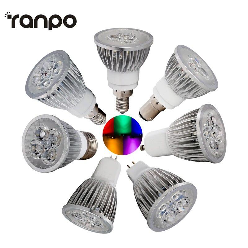 1 pièces GU10 E12 E14 E27 LED ampoule 9 W 12 W 15 W Super lumineux AC85-265V spot ampoule plafonniers et éclairage pour lampes de salon