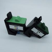 2 Pcs 1 Set Reman Ink Cartridges Cartridge For Lenovo 11 13 11B 13C 3310 3300