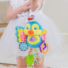 Cute Baby Newborns Bed Stroller Hanging Toys Teether Rattle Mobiles Plush Animal Pram Early Education Boy Girl Kids