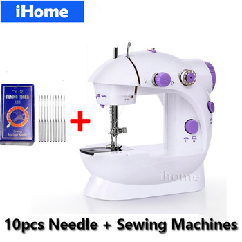 Electric Mini Sewing Machine 202 10 Needles Sewing Typewriter LED light Tailoring household Sewing machine Kids Clothes gift stuffed toy