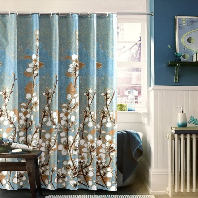 Ufaitheart Magnolia Flower Pattern Waterproof Bath Curtain Stall Shower 36 X 72 Inches Fabric