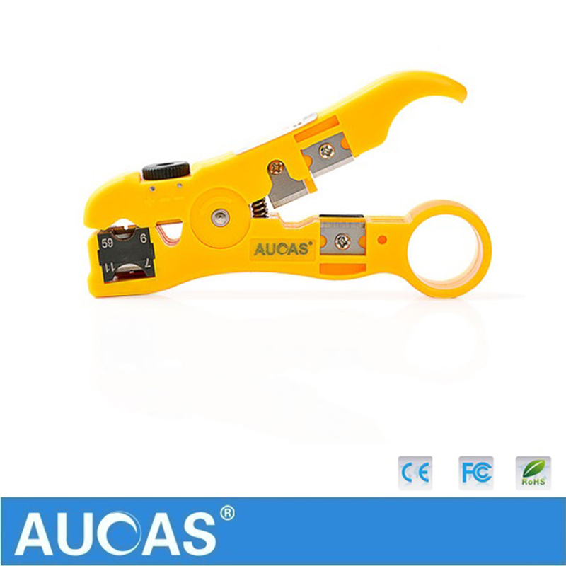 Image 5 - Universal Network Cable Wire Cutter Stripper Coaxial Cable RG59/6/7/11 Cat5e Cat6 Round & Flat Cable Cutting Stripping Tool-in Networking Tools from Computer & Office