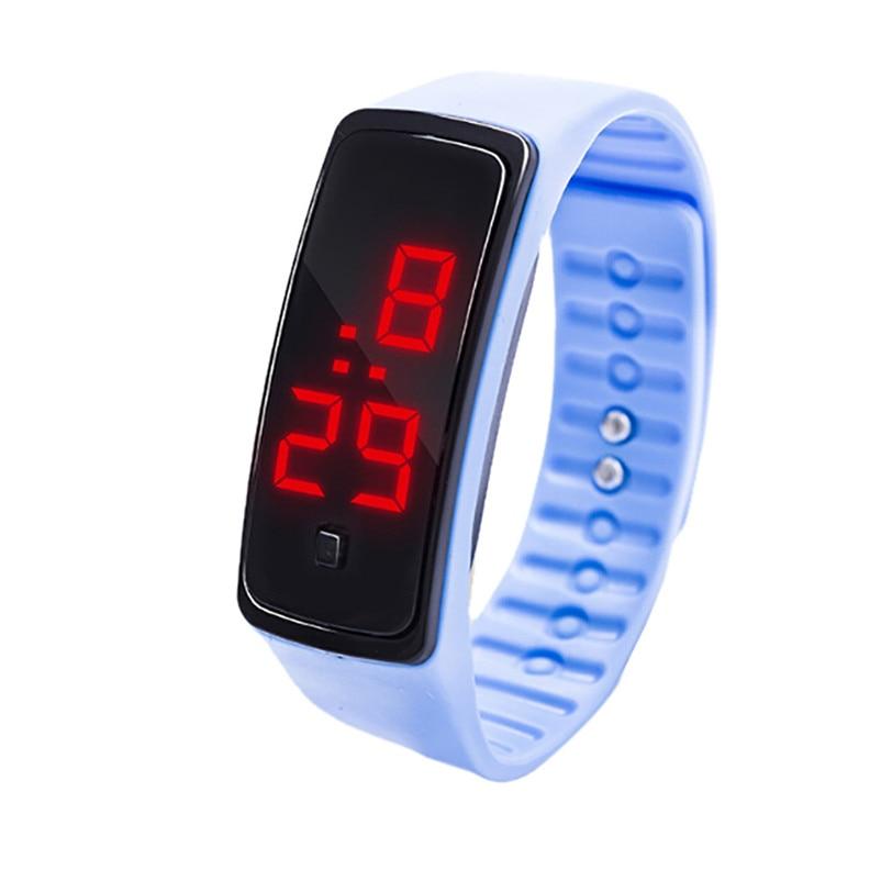 Simple Men Watch LED Digital Display Bracelet Watch Children's Students Silica Gel Sports Watch Clock relojes hombre Y09#N (3)