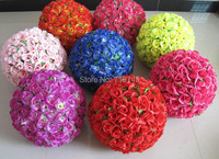 50CM /19.7 8Colors artificial rose flower ball wedding kissing ball wedding supermarkdet deoration hangings