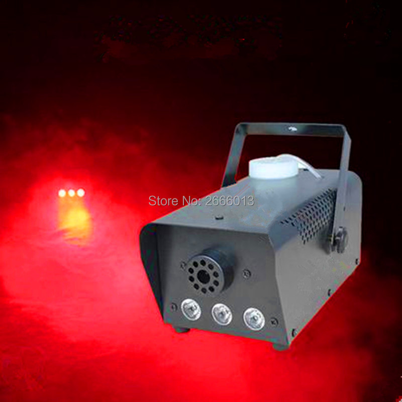 Niugul Red color Remote LED 500W smoke Machine/500w led fog Machine/fogger disco dj equipments for wedding party Fast shipping