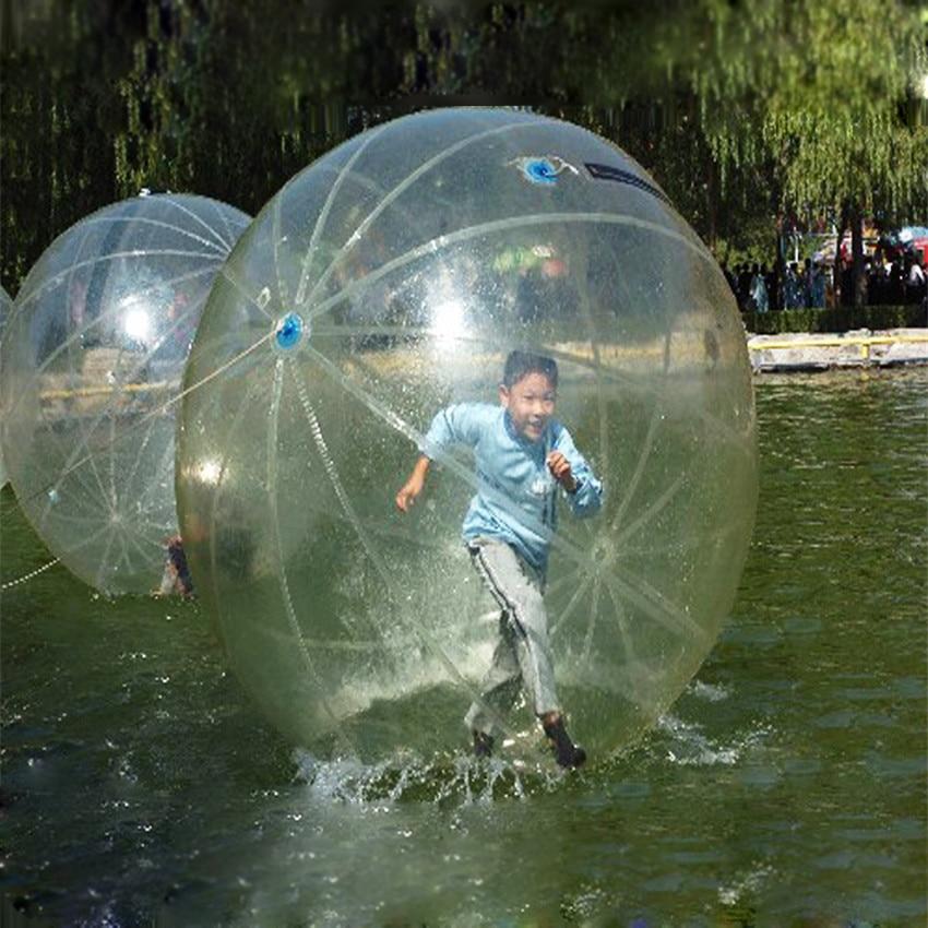 1PC 2M inflatabe skaidrus vandens vaikščiojimo kamuolys PVC skaidrus šokių kamuolys vandens žaidimo įranga