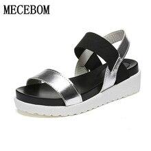 Лидер продаж Женские босоножки женская летняя обувь туфли на плоской подошве с открытым носком римские сандалии Mujer sandalias женские вьетнамки сандалии обувь