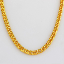 Classic Silver Golden Chain Necklaces Hip Hop For Men Gold Plated Thick Metal Curb Length 90CM Collier Jewelry