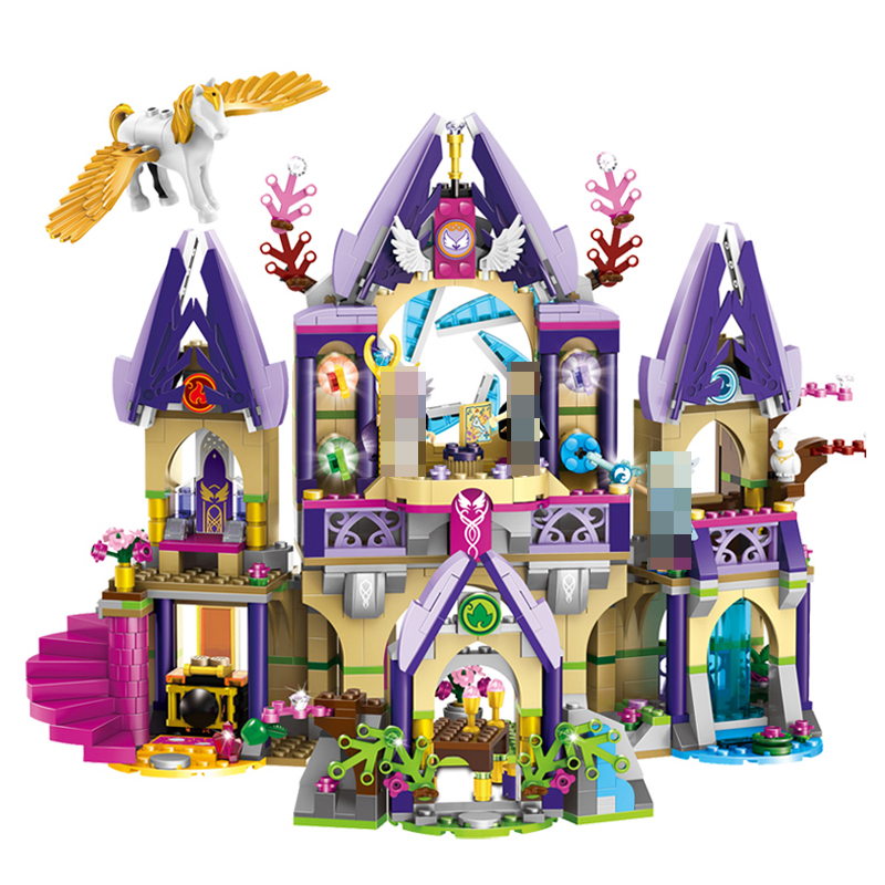 Compatible with Lego Elves 41708 Bela 10415 809pcs Skyra's Mysterious Sky Castle Figure building blocks Bricks toys for children 809pcs new 10415 elves azari aira naida emily jones sky castle fortress building block toys