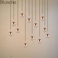 Nordic Crystal Glass Ball Pendant Lights Gold Led Modern Hanging Lamp for Home Living Room Loft Industrial Decor Light Fixtures