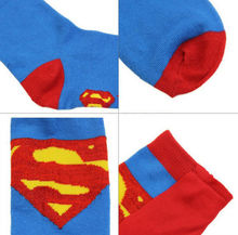 Superman Knee High Cosplay Socks