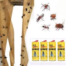 4 רולס דביק לטוס נייר לחסל זבובי חרקים דבק נייר מלכודת נוח ומעשי ביתי מכירה לוהטת מוצר