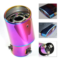DWCX Universal CURVED Exhaust Tip Pipe Tailpipe Tail Pipe Rear Muffler End Trim 32 58mm For