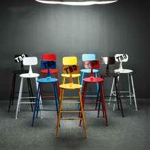 Нордический кованый барный стул бар Ktv офисная стойка специальный стул креативный высокий барный стул простой кожаный арт барный стул