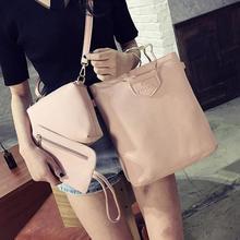 3PC Lichee Pattern Crossbady Bag+Shoulder Bag+Messenger