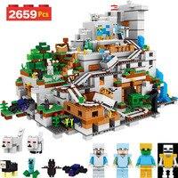 Мой мир серии строительные блоки, совместимые LegoINGlys Minecrafter 21137 пещера для малышей Железный голем Clever игрушки 2659 шт.