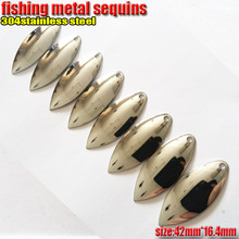 2017new product fishing spoon lures Metal sequins length 42mm*width16.4mm number:30pcs/lot 304Stainless steel