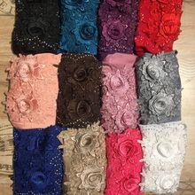 12 шт./лот) Рамадан дизайн потяните мусульманский хиджаб шарф, цвета в ассортименте SYF251