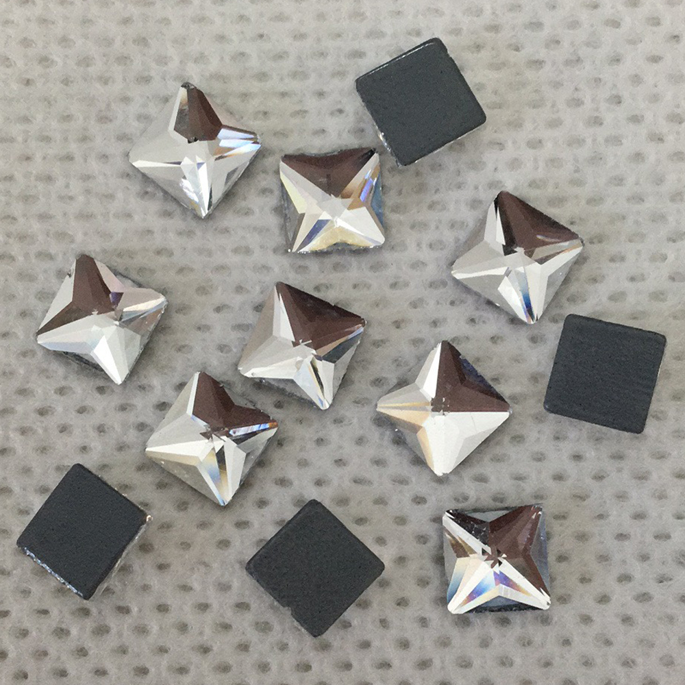 100% Waar Loodvrij 6mm Crystal Clear Nieuwe Plein Flat Terug Hotfix Steentjes/iron On Flat Terug Crystals Rhinestone Applique Goedkope Verkoop 50%