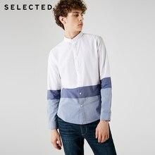 AUSGEWÄHLT Männer der 100% Baumwolle Gestreiften Assorted Farben Lange ärmeln Hemd C