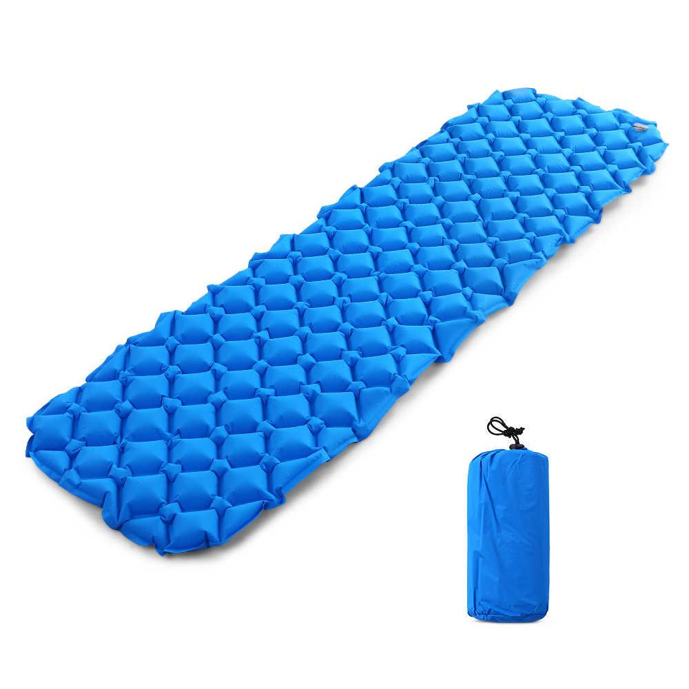 Camping Mat Inflatable Sleeping Pad Moistureproof Cepat Mengisi Kasur Udara Bantal Tidur Sofa Outdoor Beach Towel dengan Bantal
