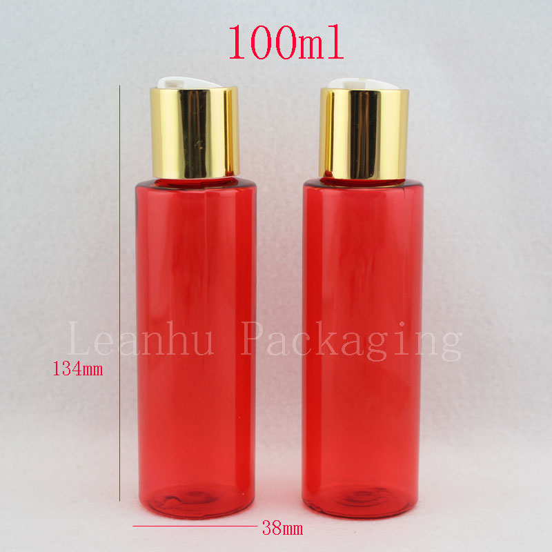 30fddb71443f US $53.11 5% OFF|100ML Red PET Packaging Bottles,Empty Cosmetic  Containers,Mini Sample Containers,Travel Cosmetic Bottle,Plastic Shampoo  Bottles-in ...