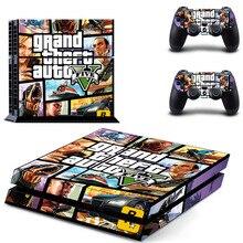 Grand Theft Auto V GTA 5 PS4 Autoadesivo Della Pelle Della Decalcomania per Sony PlayStation 4 Console e 2 Controller Pelle PS4 Adesivo In Vinile accessorio
