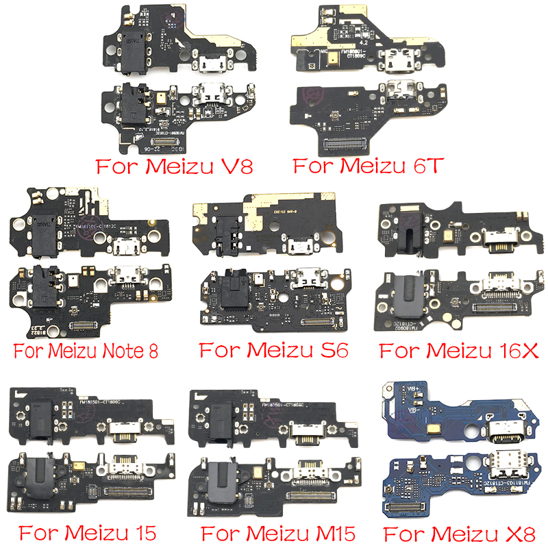 For Meizu M6T 15 M15 16X Note 8 M6S V8 X8 16th Plus Dock Connector Micro USB Charger Charging Port Flex Cable Microphone Board