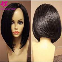 2016 Fashion 130 density bob yaki straight full lace wig virgin brazilian short full lace human hair wigs bob for black women