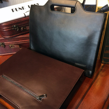 ETONWEAG New 2016 men famous brands cow leather casual document laptop shoulder bags crossbody business style briefcases