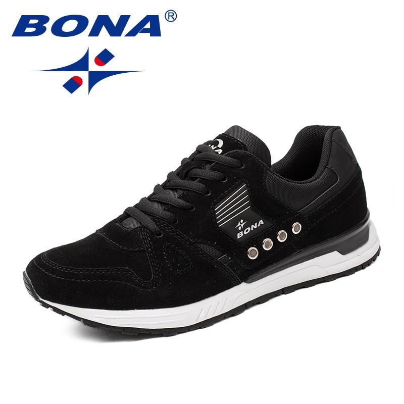 BONA nouveaux classiques Style hommes chaussures de course en daim hommes chaussures de sport à lacets hommes chaussures de Jogging baskets de plein air livraison gratuite rapide - 3