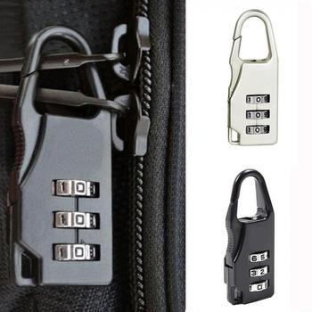 ISKYBOB Mini Padlock Travel Suitcase Luggage Security Password Lock 3 Digit Combination Travel Accessories