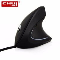 New Black Fashion Ergonomic Mouse 1600 DPI Adjustable Wired USB Vertical Optical Mause Computer Mice For