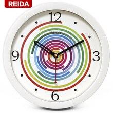 REIDA Relógio De Parede Relógio de Moda Criativa 8 Polegada Crianças Quarto Super Silencioso Quartz Relógio