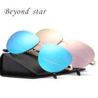 Beyond Star Pilot Oval Sunglasses Men Women Brown Driving Adult Glasses Fashion Eyewear Vintage Lens Classic